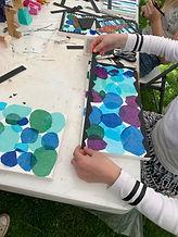 silkepapir, lerret, kunstprosjekt, sommerskole