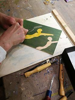 tresnitt, woodcut print, grafikk, kurs oslo, kunstkurs
