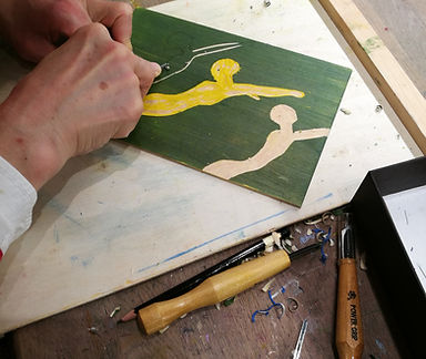 woodcut, tresnitt, grafikk, kurs oslo