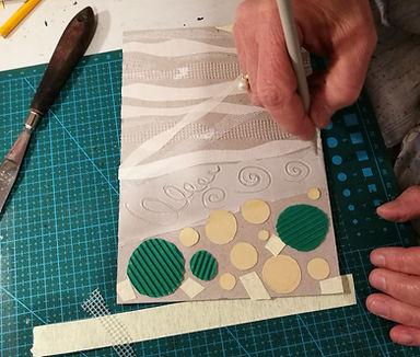 printmaking class oslo, collograph, kollograf, grafikk kurs oslo