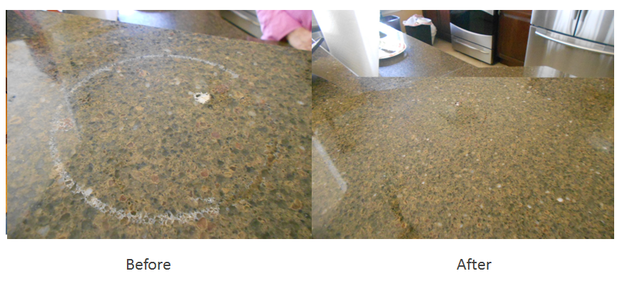 Granite counter top finish restore