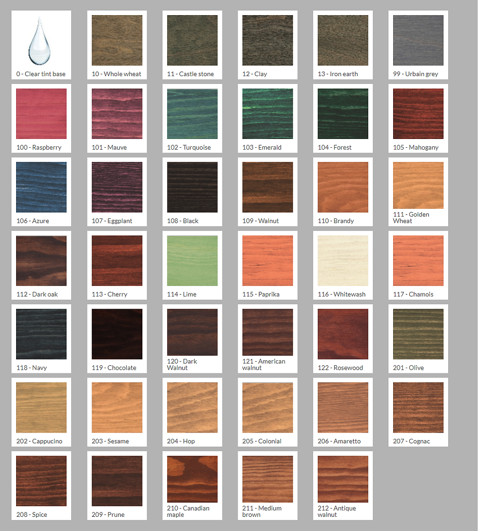 Finish restore inc wood stain color chrat wood restoration stain color chart nvjuhfo Image collections