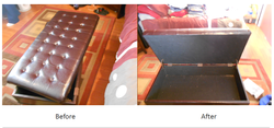 Antique ottoman repair
