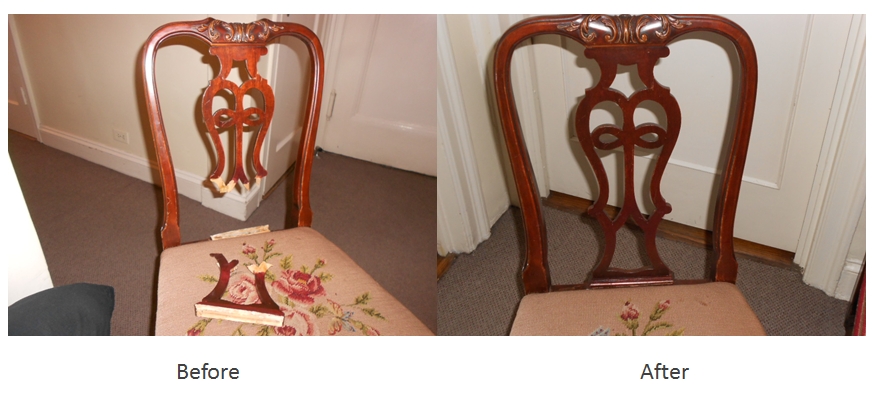Broken chair repair & restoration