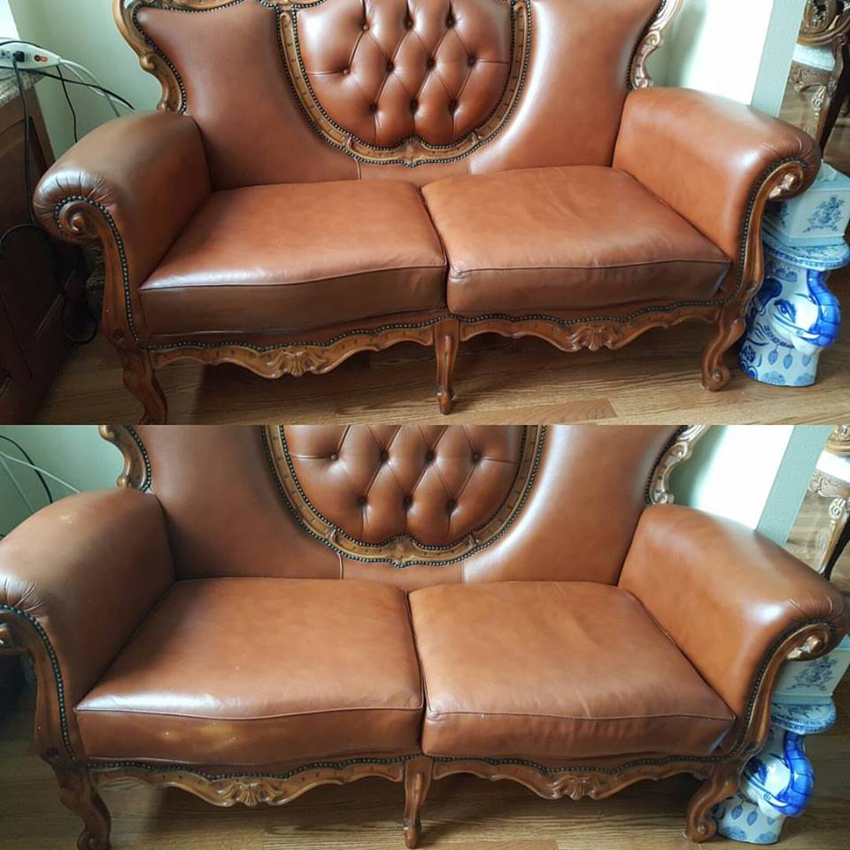 leather sofa color repair