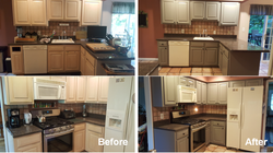 Kitchen cabinets refinishing paint