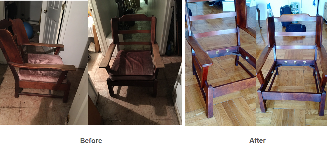 Antique chair finish restoration