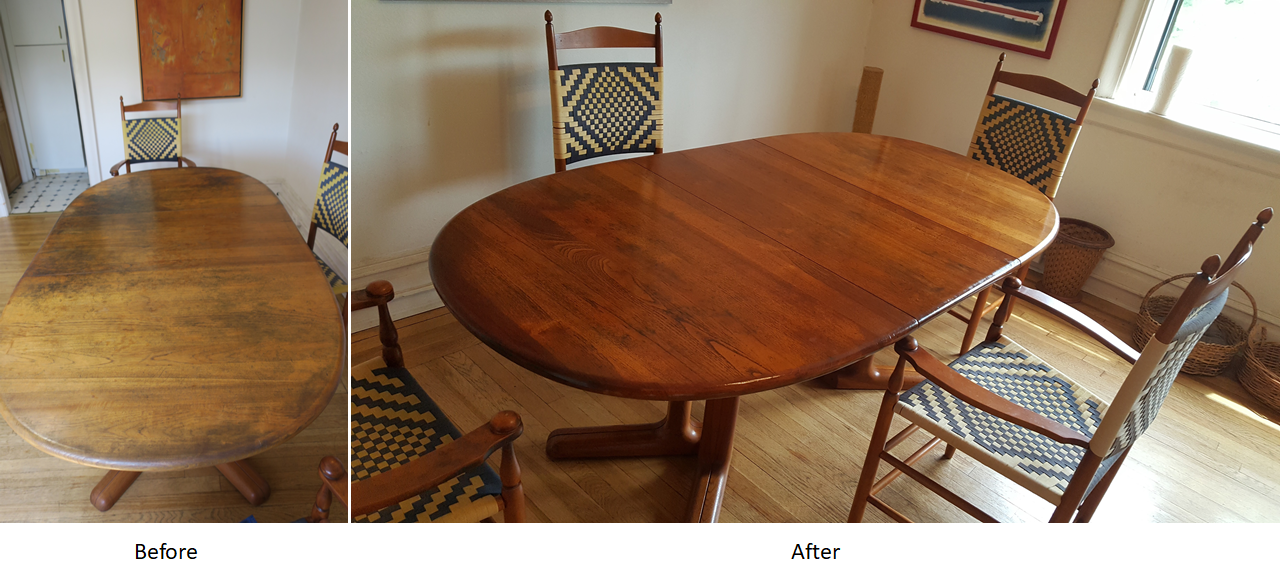 Table original finish restoration