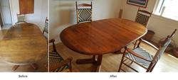 Dining Table Original Finish Restoration