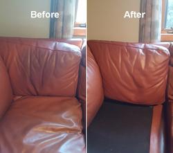 leather sofa back seat restoration redye