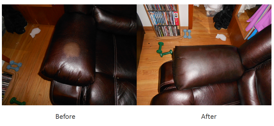 Leather sofa color restoration
