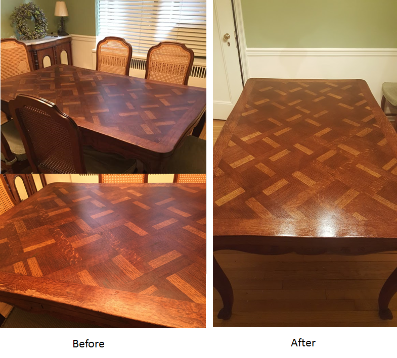 Table Original Finish Restoration  NY