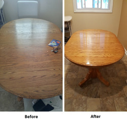 Table original finish resoration