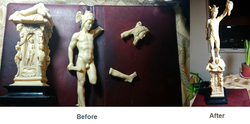 Antique statue restoration
