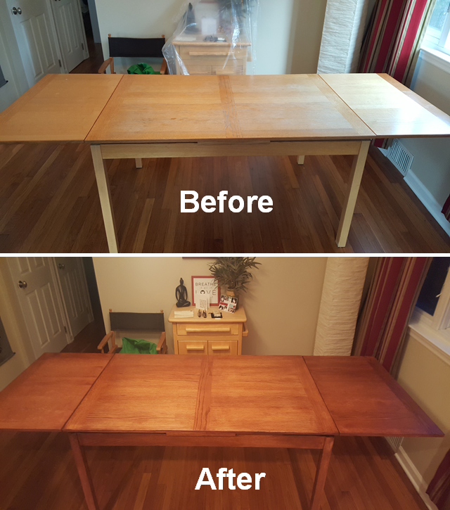 Dining Table Refinishing New Color