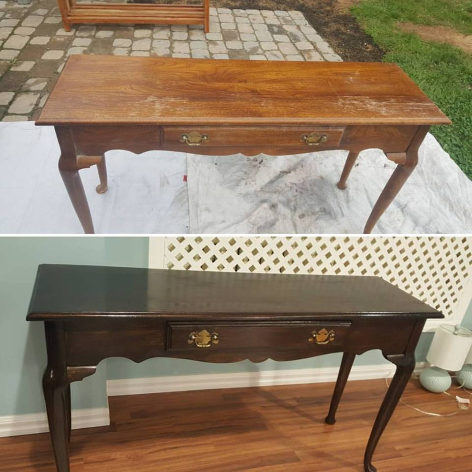 Table refinishing and color change