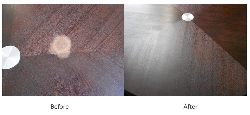 Coffee table finish restoration