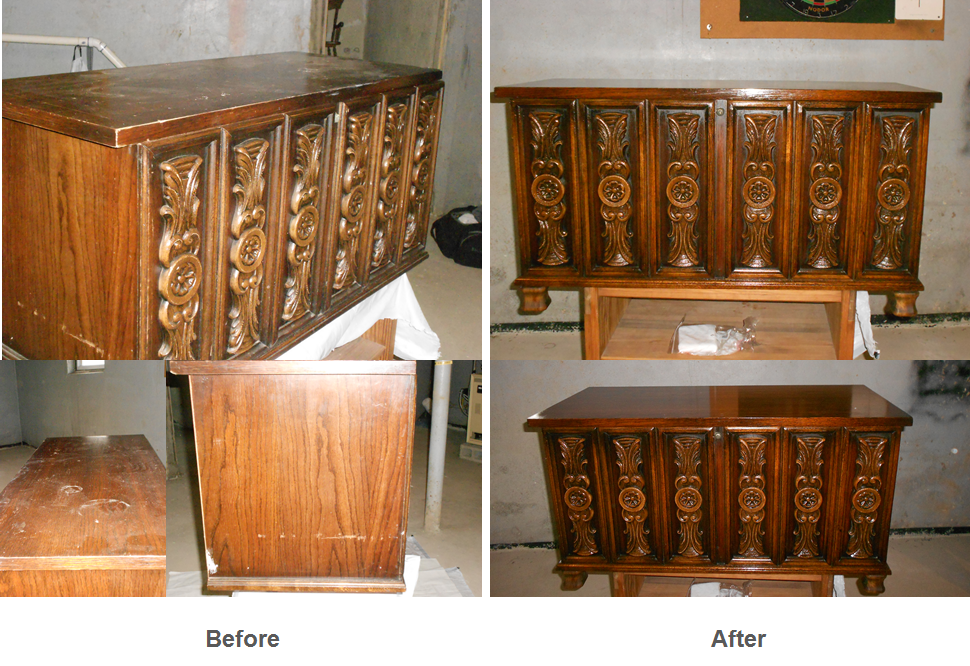Antique chest finish restoration