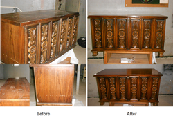 Antique chest restoration