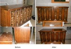 Antique chest finish restoration