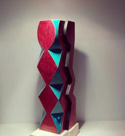 Escultura rombos_Maria de Andres