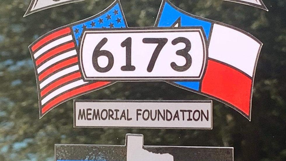 Foundation Flag Logo Sticker