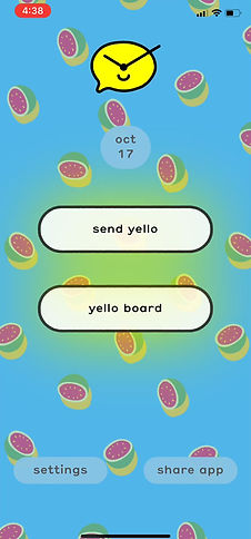 Yello schedule text message video