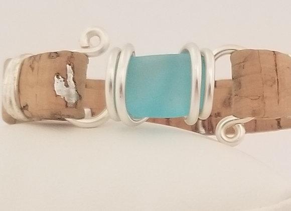 """Bisous"" sea glass bracelet"