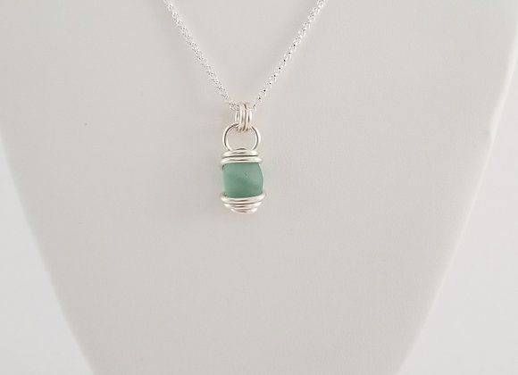 Sea foam green sea glass necklace