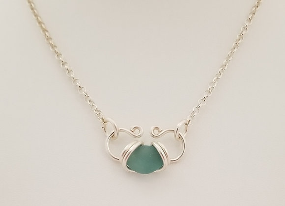 """Aqua Heart"" necklace"