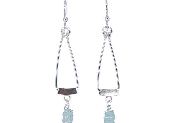 Sterling silver bail earrings