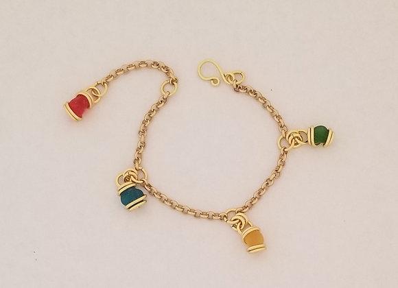 """Charming"" sea glass bracelet"