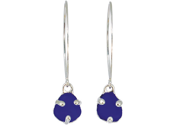 Sterling silver three prong earrings