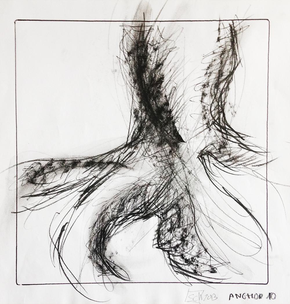 Anghor-10. dessin / fusain - 2013