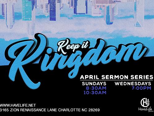 """Digital Audio Download: """"Keep it kingdom pt.1""""- Pastor Sho"""