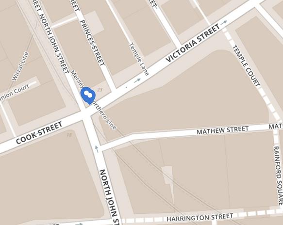 Harrisons Liverpool map
