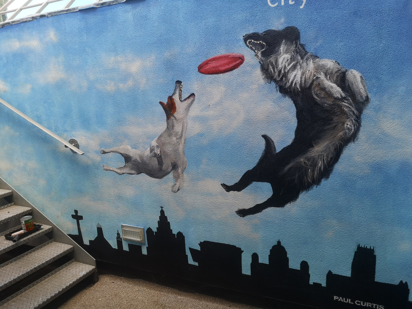 Dogs mural Paul Curtis, Liverpool