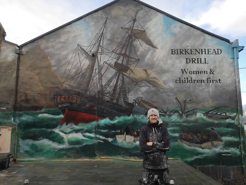 HMS Birkenhead mural-Gallaghers pub