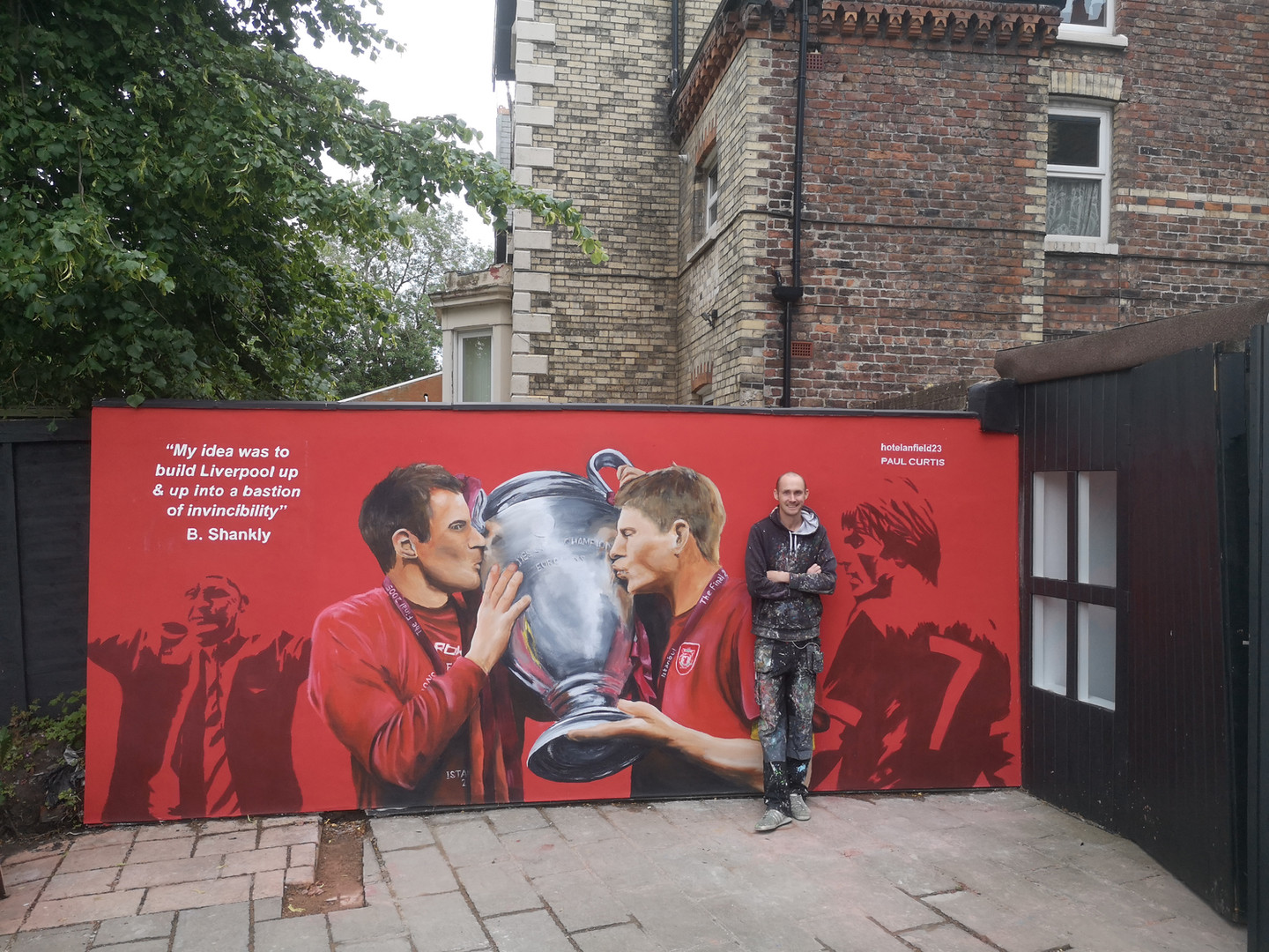Paul Curtis, Gerrard & Carra Mural