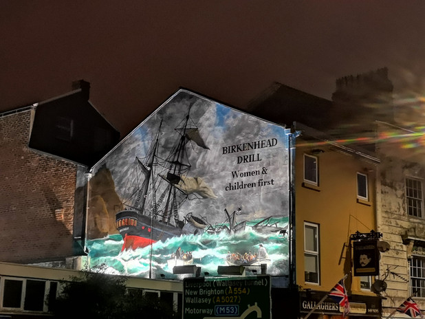 HMS Birkenhead mural, Paul Curtis