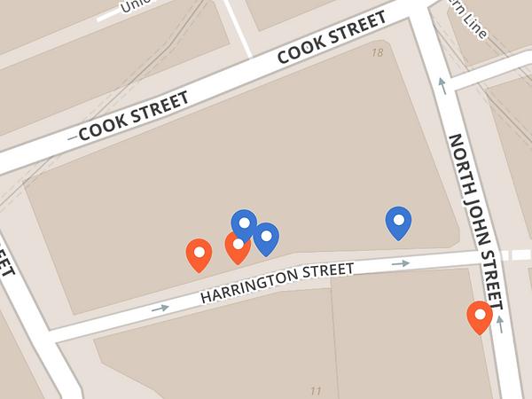 Harrison's bar murals map