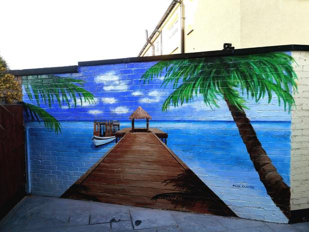 Home beach mural- Paul Curtis