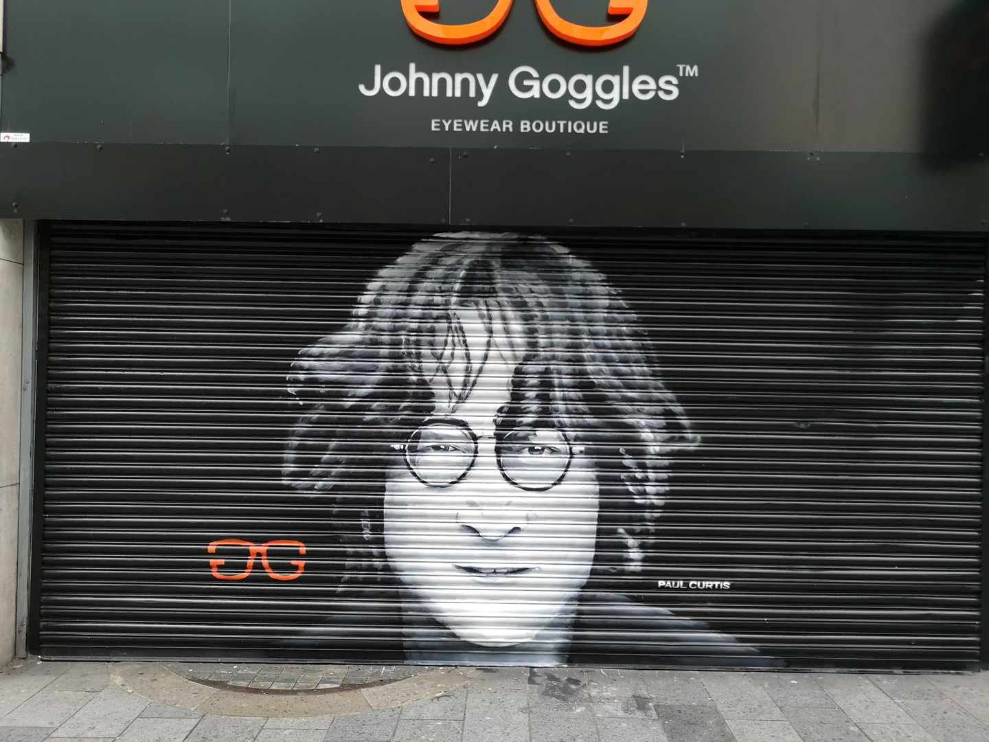 John Lennon street art Paul Curtis