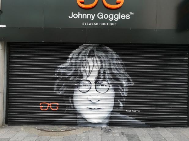 John Lennon street art Paul Curtis