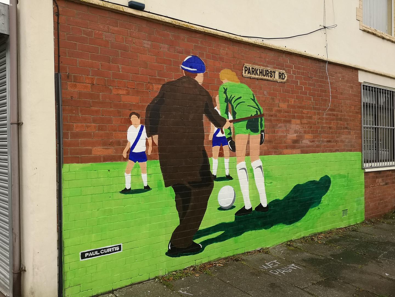 Paul Curtis Old hooligan mural