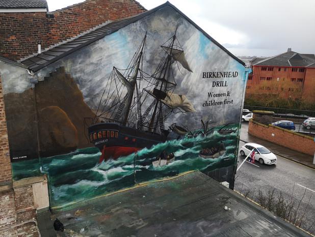 Finished HMS Birkenhead mural