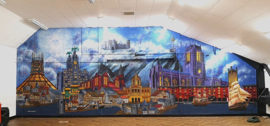Liverpool Harry Potter mural painted by Paul Curtis.