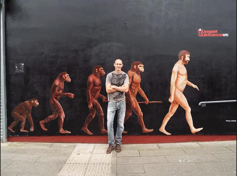 Evolution of man-Paul Curtis