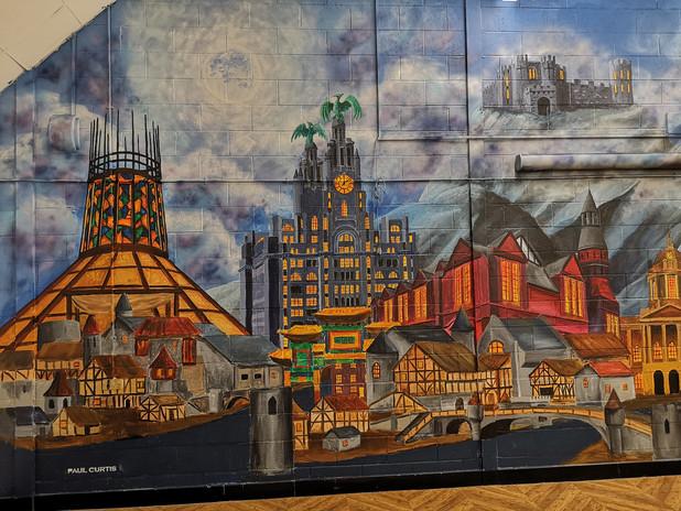 Harry Potter mural Paul Curtis