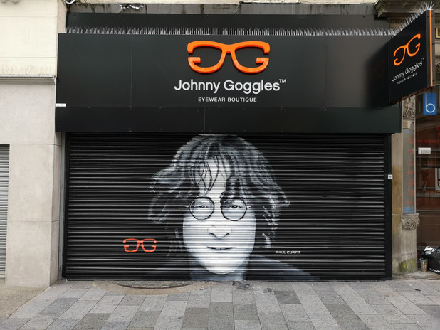 Paul Curtis Johnny Goggles mural